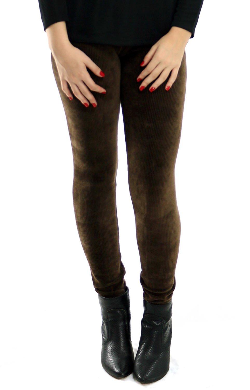 64c8fb862 Calça Legging Veludo Marrom - Malharia Eliani