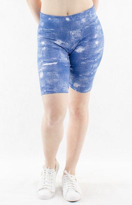 Bermuda Suplex Estampa Jeans Azul
