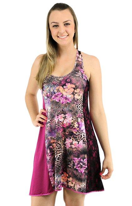 Vestido Mirele Estampa Rosa