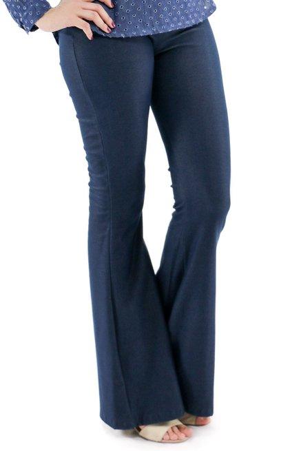 Calça Flare Jeans Lisa Azul