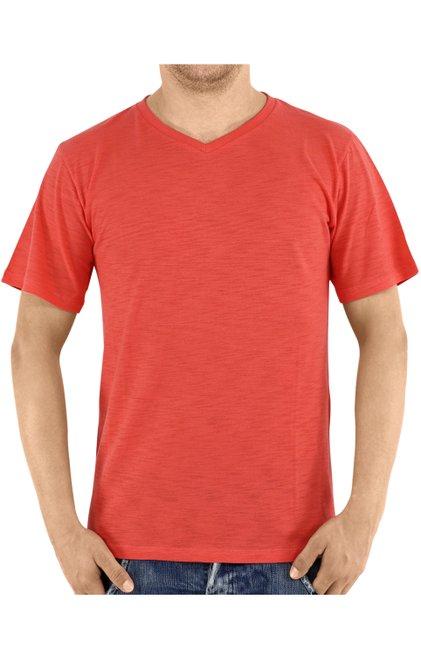 Camiseta Manga Curta Malha Flamê Lisa Laranja