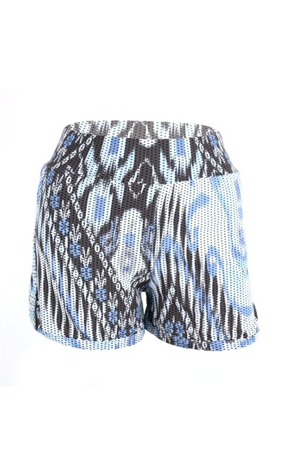 Shorts Izaura Fitness Dry Fit Estampa Geométrica