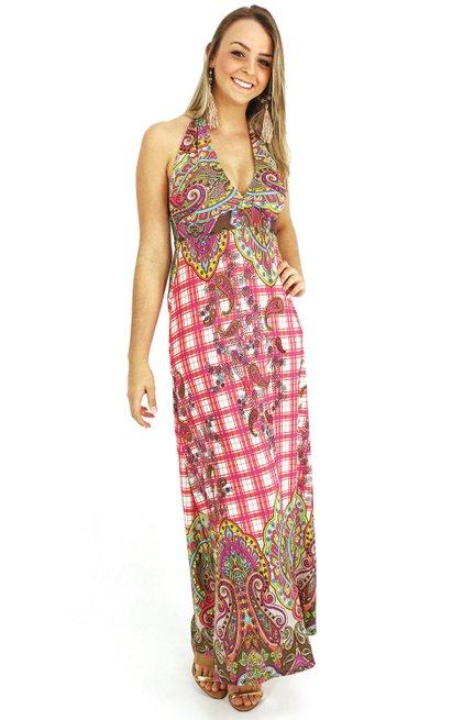 Vestido Bojo Liganeti Estampa Étnica