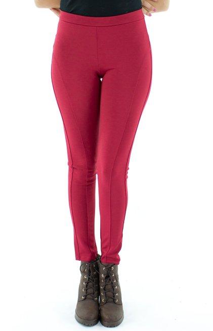 Calça Keli Montaria Lisa Vermelha
