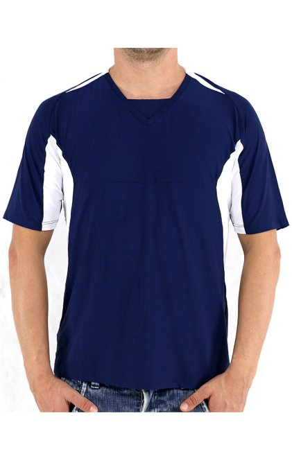 Camiseta Manga Curta Dry Fit Azul Marinho