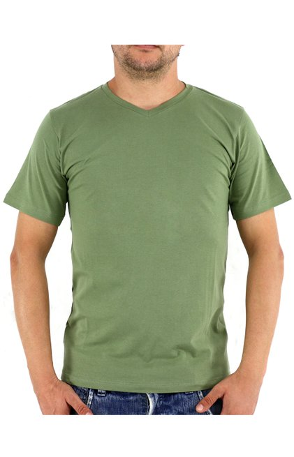 Camiseta Manga Curta Malha Lisa Verde