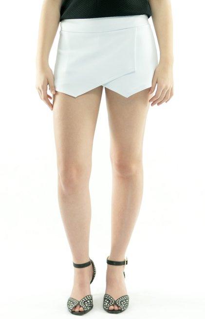 Shorts Saia Neoprene Liso Branco