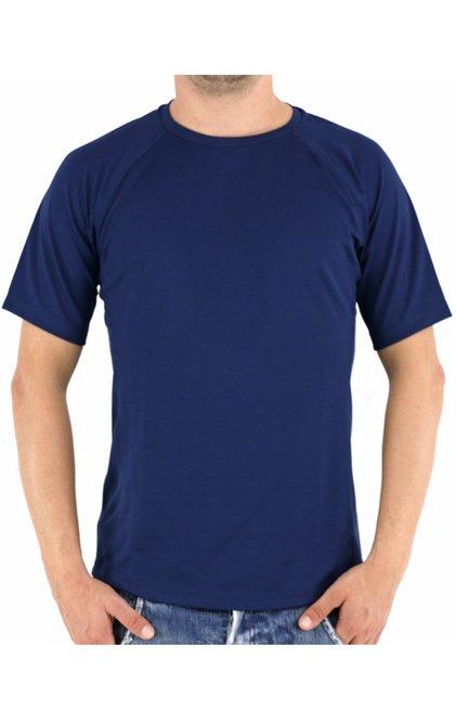 Camiseta Manga Curta Edilson Dry Fit Lisa Azul Marinho