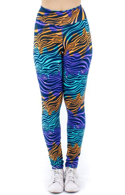 Calça Legging Carol Suplex Estampa Animal Azul