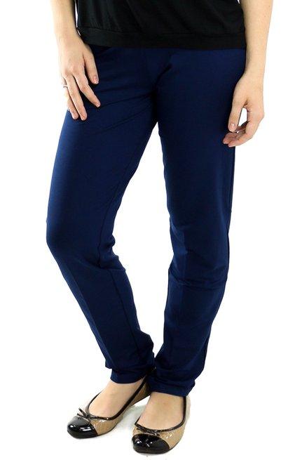 Calça Cotton Lisa Azul marinho
