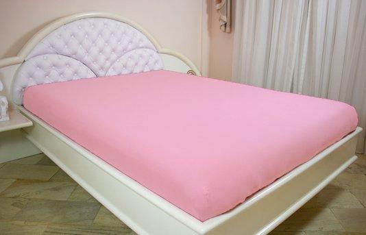Lençol Malha Casal 200 x 250 cm Rosa Claro