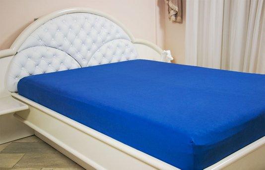 Lençol Malha Casal Queen 230 x 270 cm Azul Royal