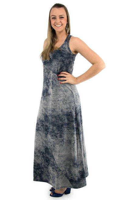 Vestido Tuca Viscolycra Estonado Azul Marinho