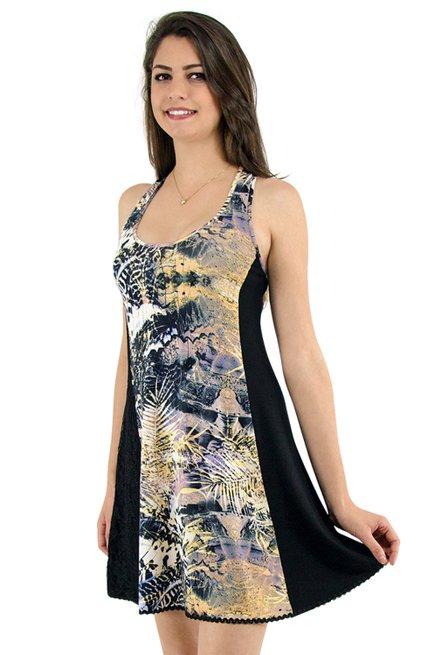 Vestido Mirele Estampa Preto