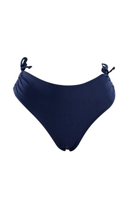 Calcinha Biquíni Franzida Lisa Azul Marinho
