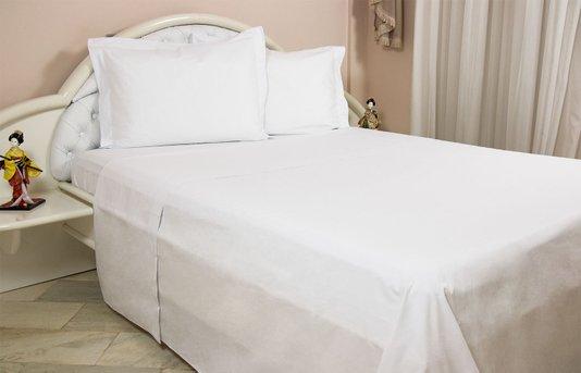 Jogo de cama tecido casal 4pcs Branco