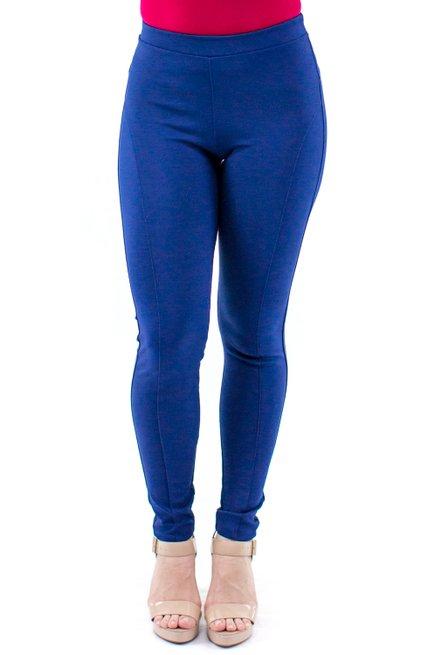 Calça Keli Montaria Lisa Azul Marinho