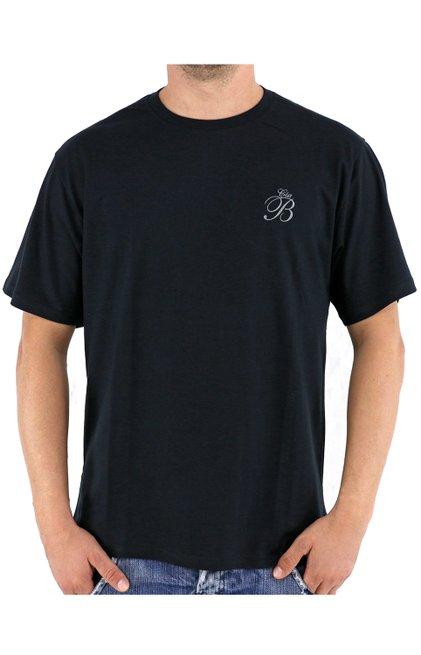 Camiseta Malha Manga Curta Lisa Preta