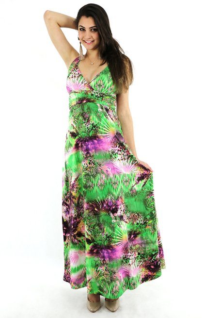 Vestido Paty Longo Viscolycra Estampa Floral