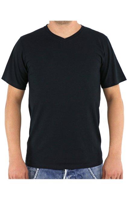 Camiseta Manga Curta Malha Lisa Preta