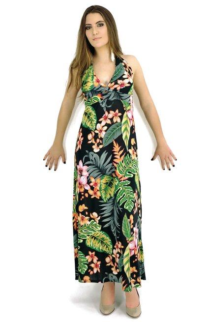 Vestido Bojo Liganeti Estampa Floral Preto
