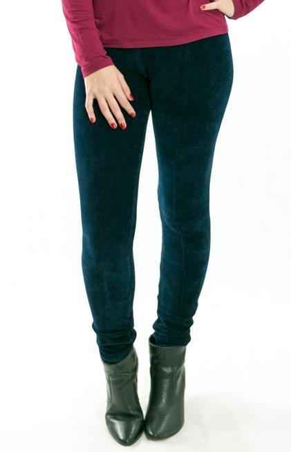 Calça Legging Veludo Azul Marinho