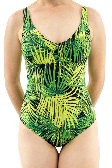 Maiô Tradicional Novo Estampa Tropical Verde