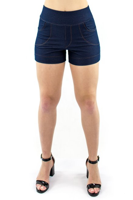 Shorts Jeans Liso Azul