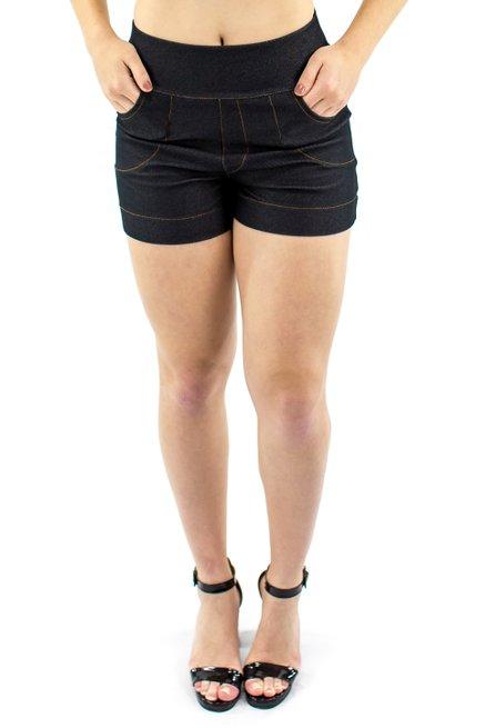 Shorts Jeans Liso Grafite