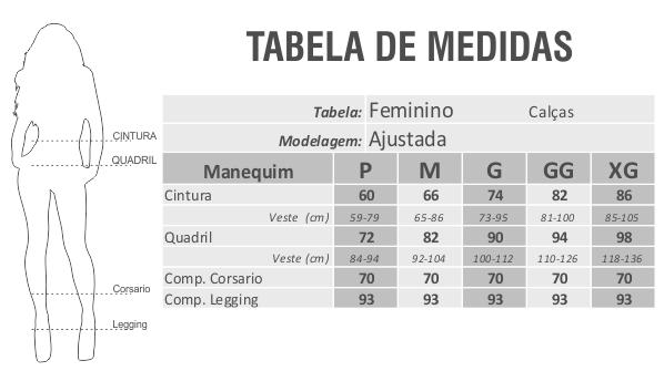 Conjunto ModalFita Tigrada Liso Preto