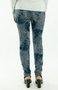 Calça Montaria Estampa Abstrata Azul Marinho