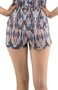 Shorts Izaura Fitness Dry Fit Estampa Abstrata Rosa