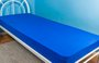 Lençol Malha Solteiro 140 x 240 cm Azul Royal