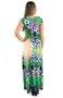 Vestido Marcia Longo Viscolycra Estampa Floral Verde