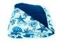 Edredom Malha Casal 2,10m x 2,40mEstampa Conchas Azul Marinho