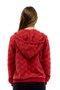 Jaqueta Matelassê Capuz Lisa Vermelha