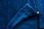 Saída de Banho Roupão Sofia Liso Azul Marinho Capuz